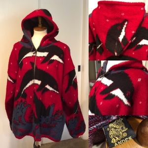 Sweaters - Large wool dolphin hoodie